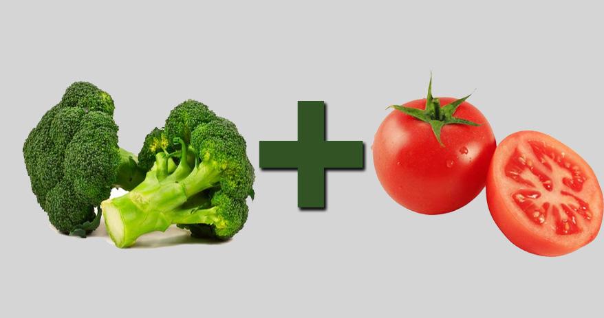 06 Combinações de alimentos que ajudam a melhorar sua saúde - Brocolis + tomat