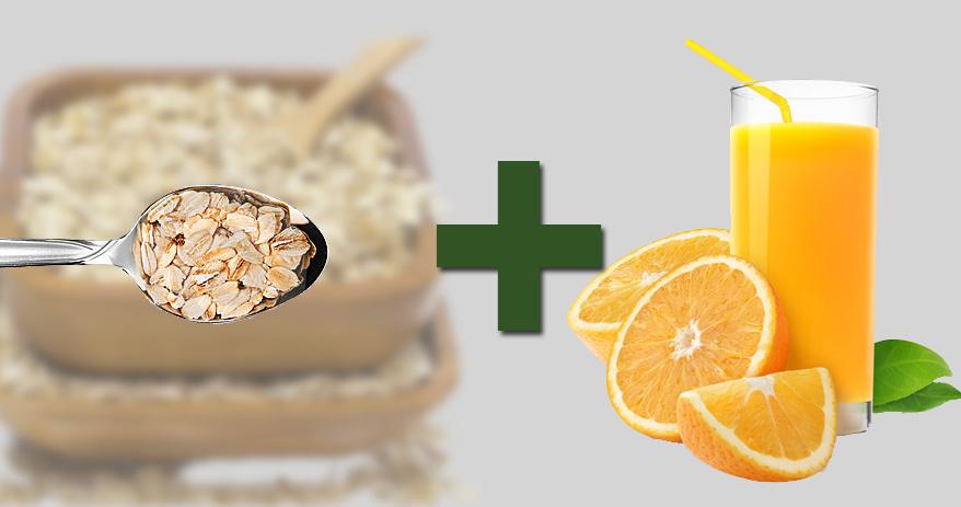 06 Combinações de alimentos que ajudam a melhorar sua saúde - aveia + suco de laranja