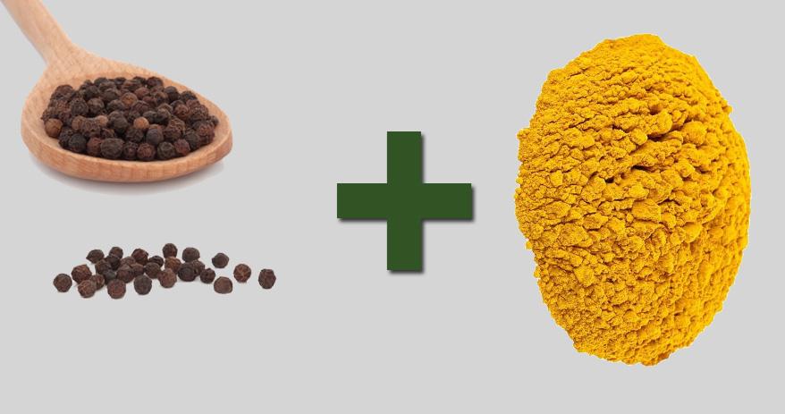 06 Combinações de alimentos que ajudam a melhorar sua saúde - pimenta do reino + açafrão