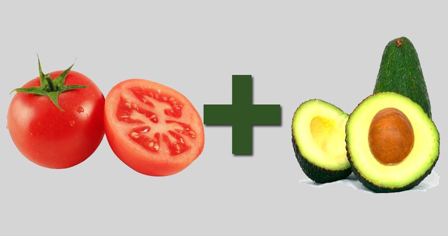 06 Combinações de alimentos que ajudam a melhorar sua saúde - tomate + abacate