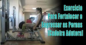 Exercício Para Fortalecer as Pernas  [Cadeira Adutora]